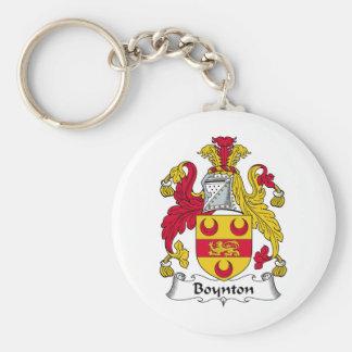 Escudo de la familia de Boynton Llavero Redondo Tipo Pin