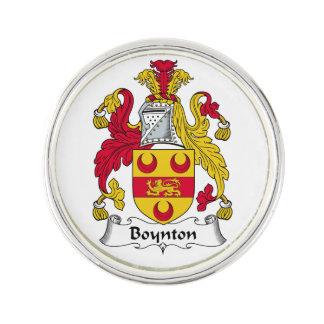 Escudo de la familia de Boynton Insignia