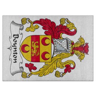 Escudo de la familia de Boynton Tablas Para Cortar