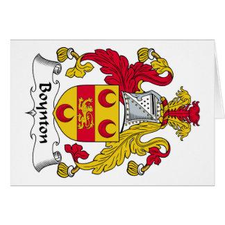 Escudo de la familia de Boynton Tarjeta De Felicitación