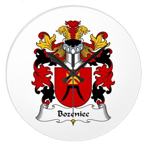 Escudo de la familia de Bozeniec Reloj De Pared