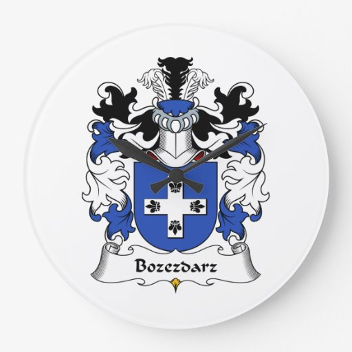 Escudo de la familia de Bozezdarz Reloj Redondo Grande