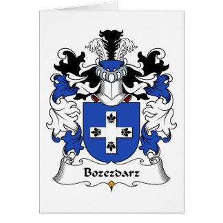 Escudo de la familia de Bozezdarz Tarjeta De Felicitación