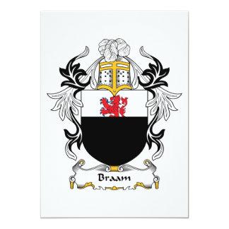 Escudo de la familia de Braam Invitación 12,7 X 17,8 Cm