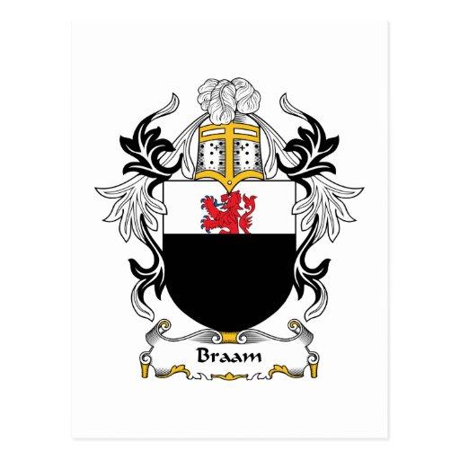 Escudo de la familia de Braam Tarjeta Postal