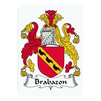 """Escudo de la familia de Brabazon Invitación 5"""" X 7"""""""