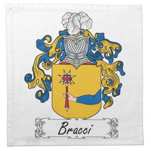 Escudo de la familia de Bracci Servilletas De Papel