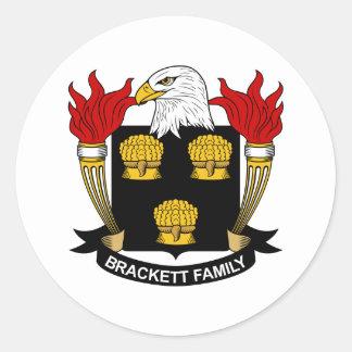 Escudo de la familia de Brackett Pegatina Redonda