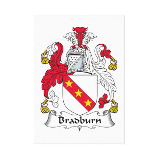 Escudo de la familia de Bradburn Lona Envuelta Para Galerias