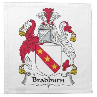 Escudo de la familia de Bradburn Servilleta De Papel