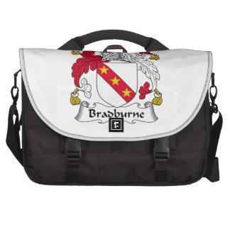 Escudo de la familia de Bradburne Bolsas Para Portatil