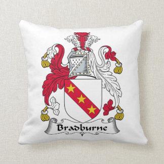 Escudo de la familia de Bradburne Almohadas