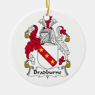 Escudo de la familia de Bradburne Adornos