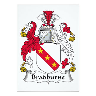 Escudo de la familia de Bradburne Comunicado Personalizado