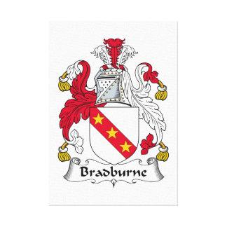 Escudo de la familia de Bradburne Lona Envuelta Para Galerias