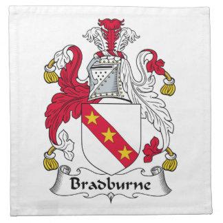 Escudo de la familia de Bradburne Servilleta De Papel