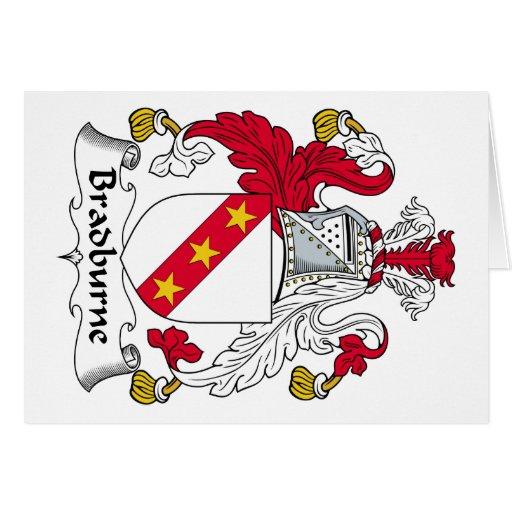 Escudo de la familia de Bradburne Tarjeta