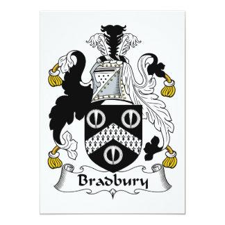 Escudo de la familia de Bradbury Invitación 12,7 X 17,8 Cm