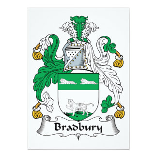 """Escudo de la familia de Bradbury Invitación 5"""" X 7"""""""