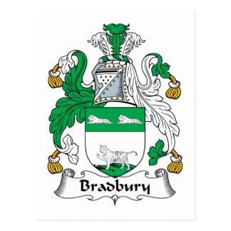 Escudo de la familia de Bradbury Postales