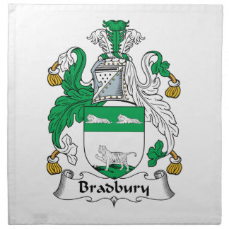 Escudo de la familia de Bradbury Servilleta