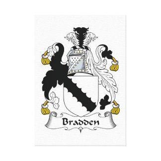 Escudo de la familia de Bradden Impresiones En Lona Estiradas