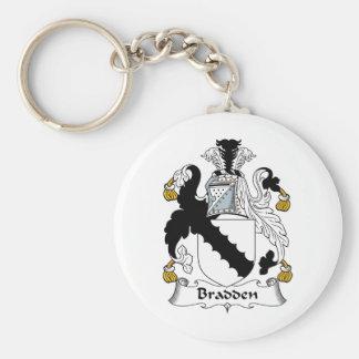 Escudo de la familia de Bradden Llaveros Personalizados