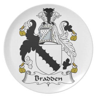 Escudo de la familia de Bradden Platos De Comidas