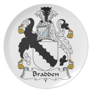 Escudo de la familia de Bradden Plato Para Fiesta