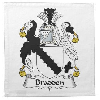 Escudo de la familia de Bradden Servilletas De Papel
