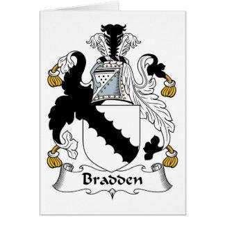 Escudo de la familia de Bradden Tarjeta De Felicitación