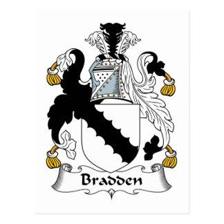 Escudo de la familia de Bradden Tarjeta Postal