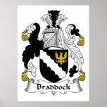 Escudo de la familia de Braddock Impresiones