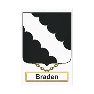 Escudo de la familia de Braden Lona Estirada Galerias