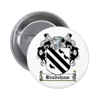 Escudo de la familia de Bradshaw Pin Redondo De 2 Pulgadas