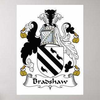 Escudo de la familia de Bradshaw Póster