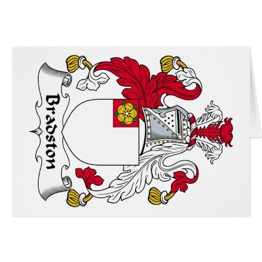 Escudo de la familia de Bradston Tarjeta De Felicitación