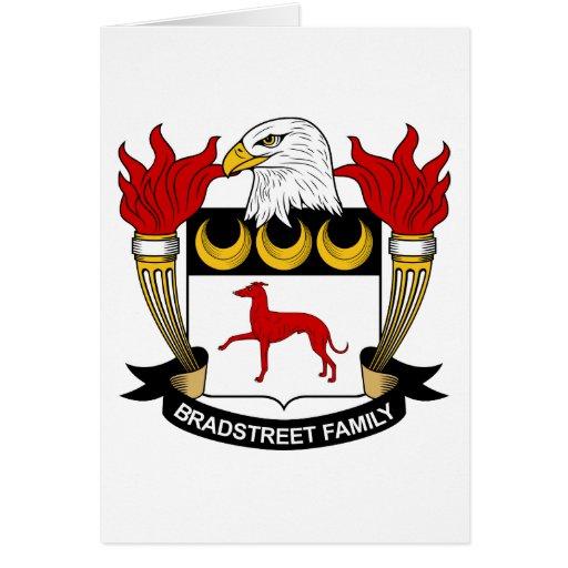 Escudo de la familia de Bradstreet Tarjeta De Felicitación