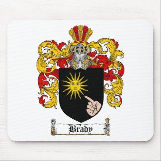 ESCUDO DE LA FAMILIA DE BRADY - ESCUDO DE ARMAS DE MOUSEPADS