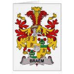 Escudo de la familia de Braem Felicitacion
