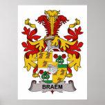 Escudo de la familia de Braem Posters