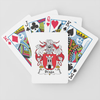 Escudo de la familia de Braga Baraja Cartas De Poker