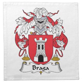 Escudo de la familia de Braga Servilletas Imprimidas