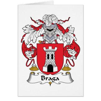 Escudo de la familia de Braga Tarjeta De Felicitación
