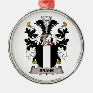 Escudo de la familia de Brahe Adorno Navideño Redondo De Metal