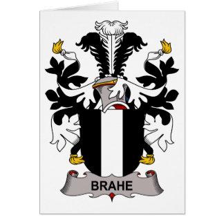 Escudo de la familia de Brahe Tarjeta De Felicitación