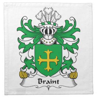 Escudo de la familia de Braint Servilletas Imprimidas