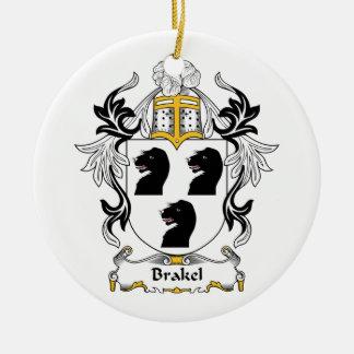 Escudo de la familia de Brakel Adorno Navideño Redondo De Cerámica