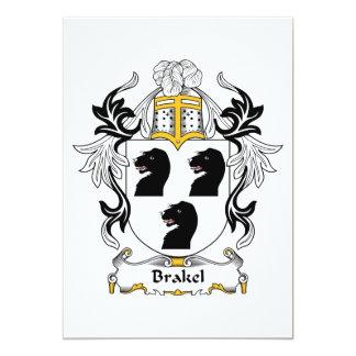 """Escudo de la familia de Brakel Invitación 5"""" X 7"""""""