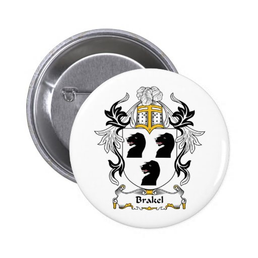 Escudo de la familia de Brakel Pin Redondo 5 Cm